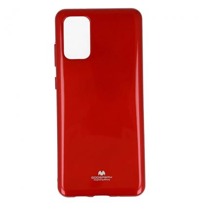 Mercury Goospery Jelly Case - силиконов (TPU) калъф за Samsung Galaxy S20 Plus (червен)