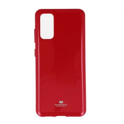 Mercury Goospery Jelly Case - силиконов (TPU) калъф за Samsung Galaxy S20 (червен)