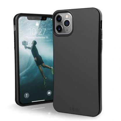Urban Armor Gear Biodegradeable Outback Case - удароустойчив рециклируем кейс за iPhone 11 Pro Max (черен)