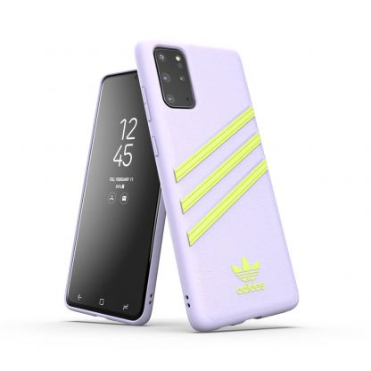 Adidas Originals Moulded Case - кожен кейс за Samsung Galaxy S20 Plus (лилав)