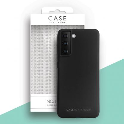 Case FortyFour No.1 Case - силиконов (TPU) калъф за Samsung S21 Plus (черен)