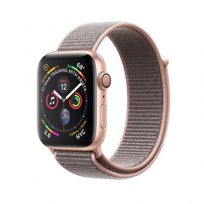 Apple Watch Series 4, 44mm Gold Aluminum Case with Pink Sand Sport Loop - умен часовник от Apple