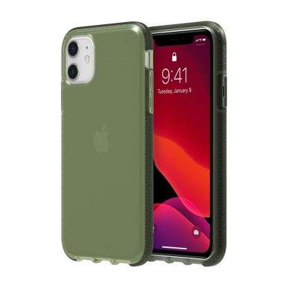 Griffin Survivor Clear Case - хибриден удароустойчив кейс за iPhone 11 (зелен)